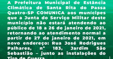 COMUNICADO: Junta do Serviço Militar N.º 112